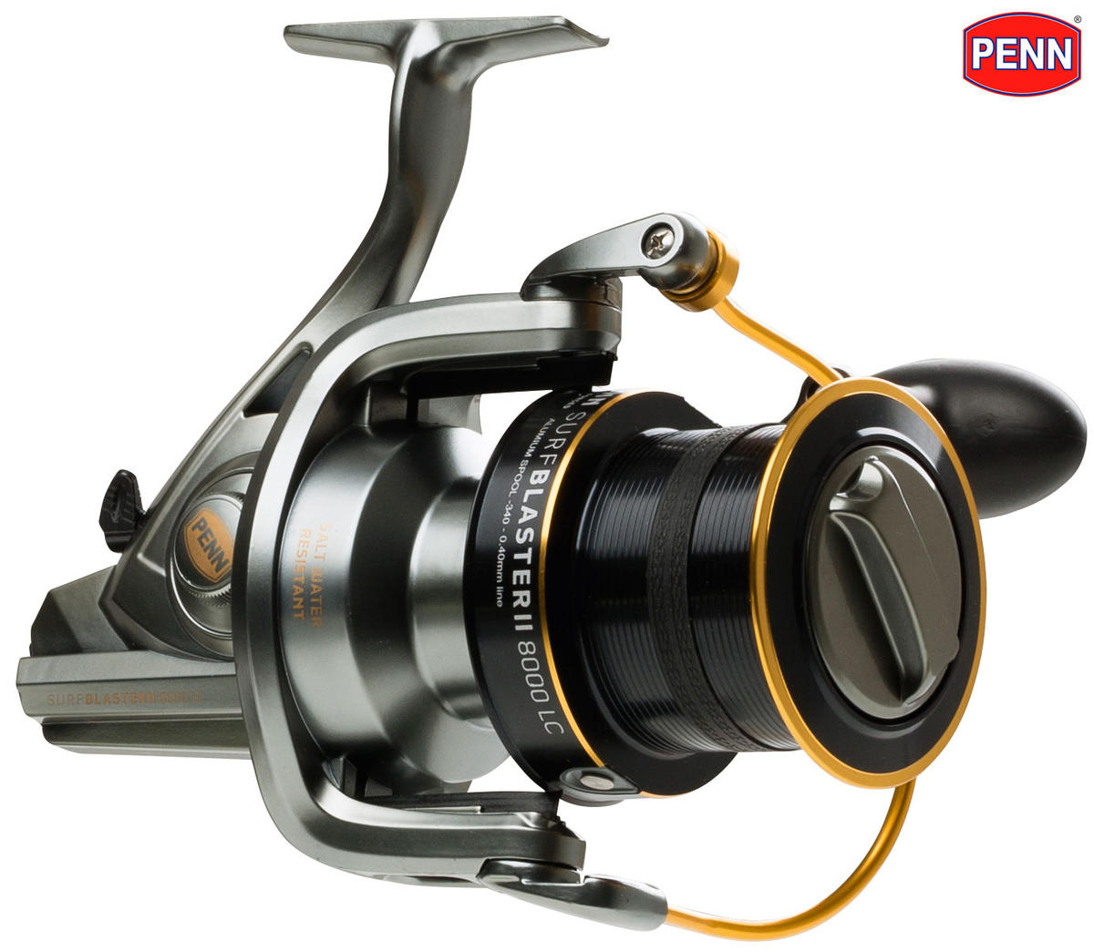 New PENN Surfblaster II 8000 LC Fixed Spool Front Drag Big Pit Surf Casting Reel