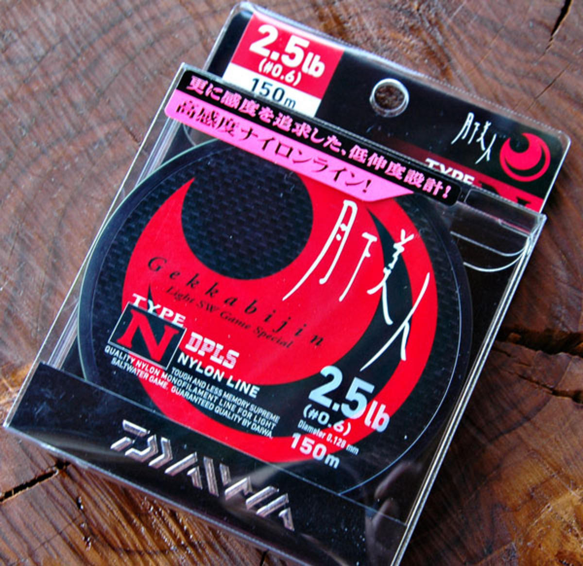 NEW DAIWA GEKKABIJIN TYPE N NYLON FISHING LINE 150M SPOOL 2.5LB - 4LB AVAILABLE