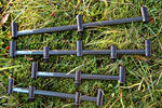 BISON BLACK ALUMINIUM & CARBON FIBRE GOAL POST / SINGLE POST BUZZ BARS ALL SIZES