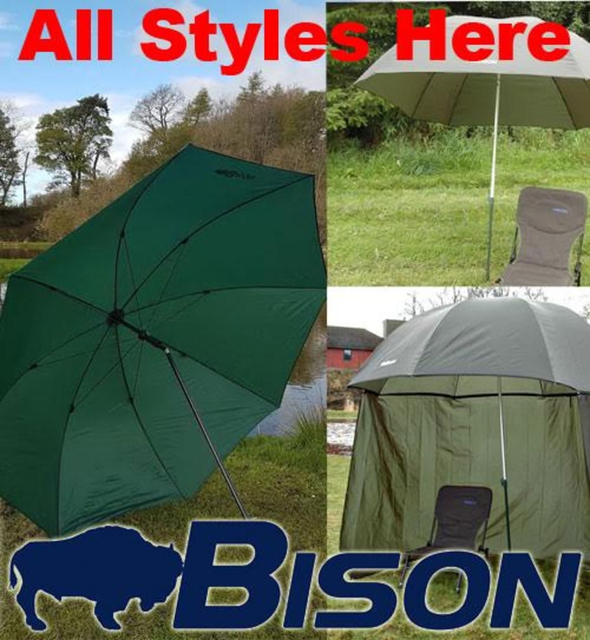 BISON TOP TILT UMBRELLA BROLLY FISHING SHELTER ALL STYLES HERE