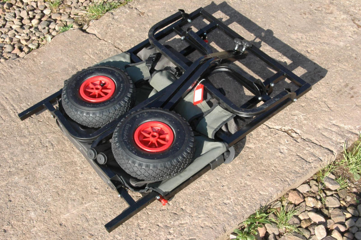 Folding 2 Wheel Fishing Trolley Barrow With Barrow Bag