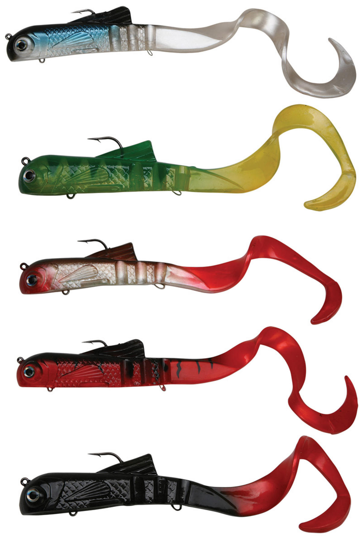 DAIWA MEGAFORCE SONIC TAIL BULLDOG  DICTATOR LURES