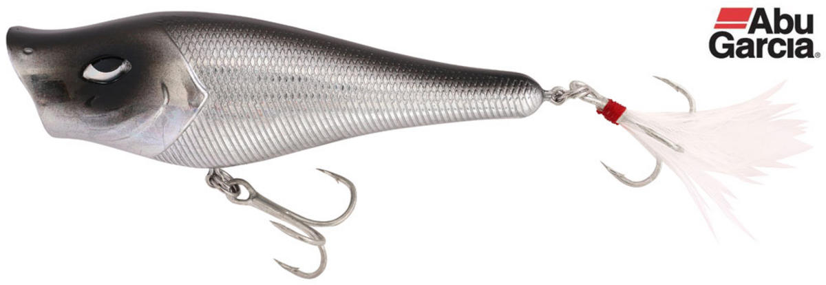 Abu Garcia Rocket Popper Pike Bass Lure 7cm Silver Chrome 1345778