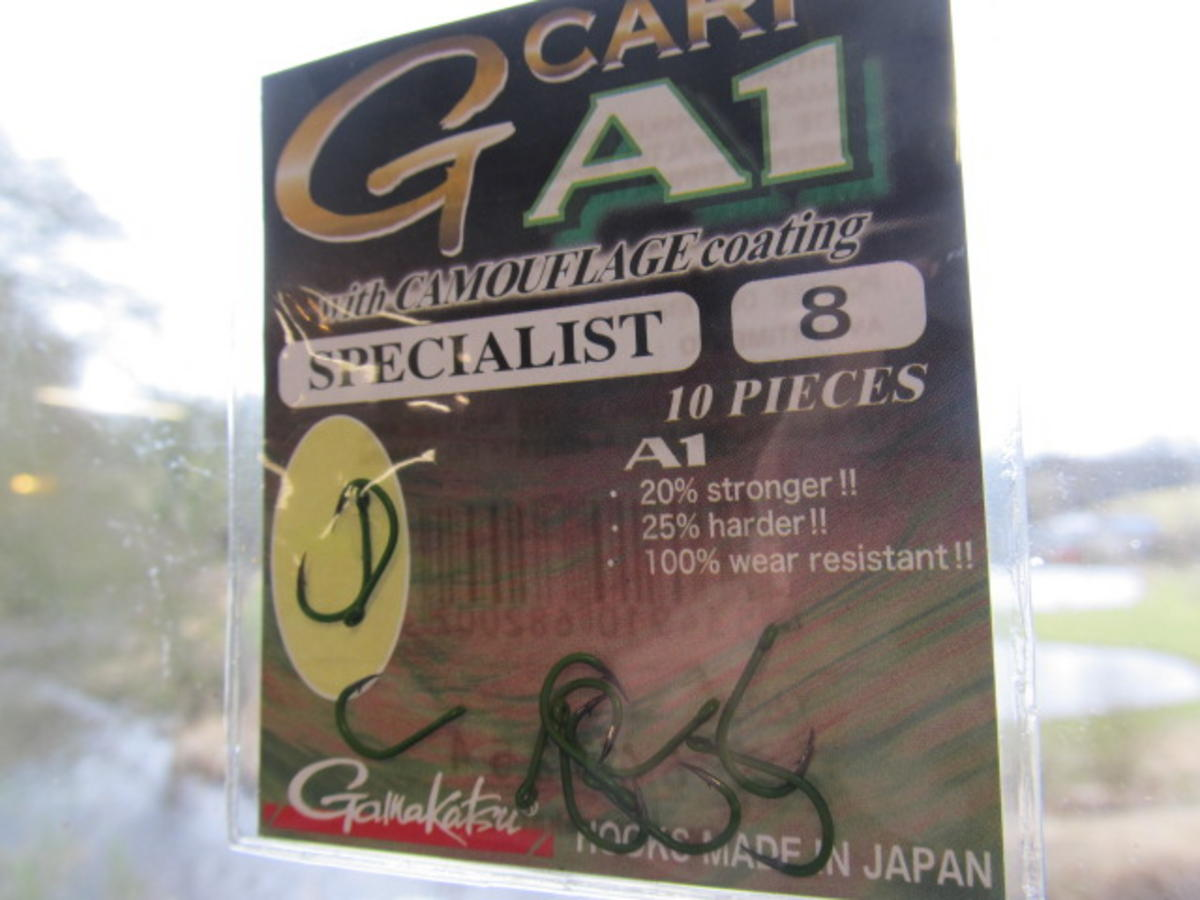 GAMAKATSU A1 SPECIALIST CAMOUGREEN G-CARP HOOKS SIZE 8 SPECIAL HALF PRICE OFFER