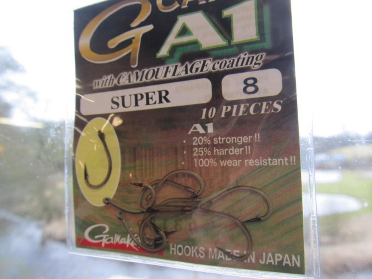 GAMAKATSU A1 G-CARP CAMOUSAND SUPER HOOKS SIZE 8 SPECIAL HALF PRICE OFFER