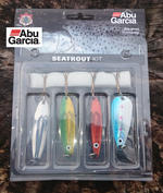 ABU GARCIA SEATROUT LURE KIT ASSORTED COLOURS 4 PACK 1115256