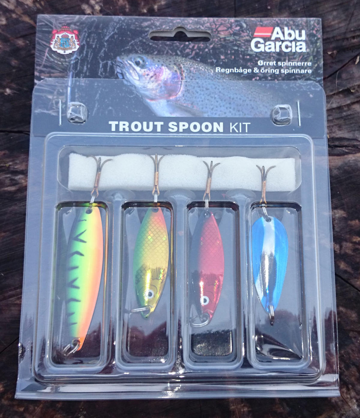 ABU GARCIA TROUT SPOON LURE KIT ASSORTED COLOURS 4 PACK 1115258