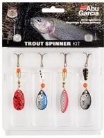 ABU GARCIA TROUT SPINNER LURE KIT ASSORTED COLOURS 4 PACK 1115257