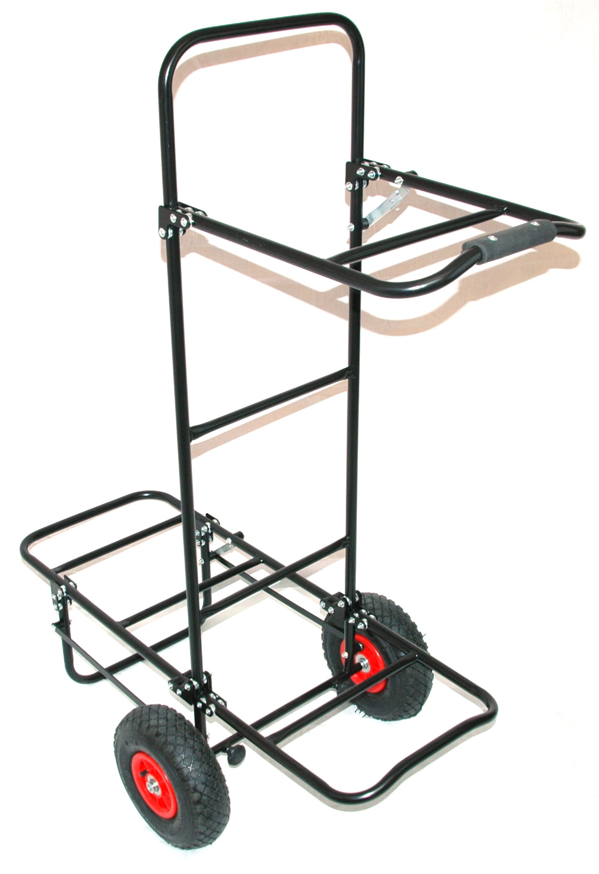 Details about BISON FOLDING FISHING SEAT BOX PULL TROLLEY