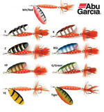 ABU GARCIA CLASSIC REFLEX RED SPINNER LURES ALL COLOURS & SIZES