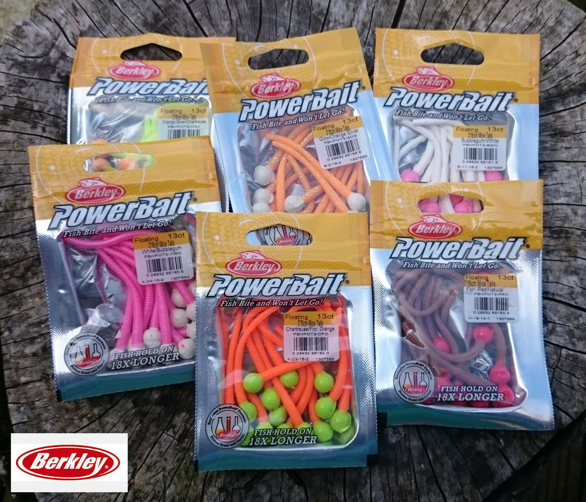 Berkley Powerbait Mice Tails Lures 13 Pack All Colours Available