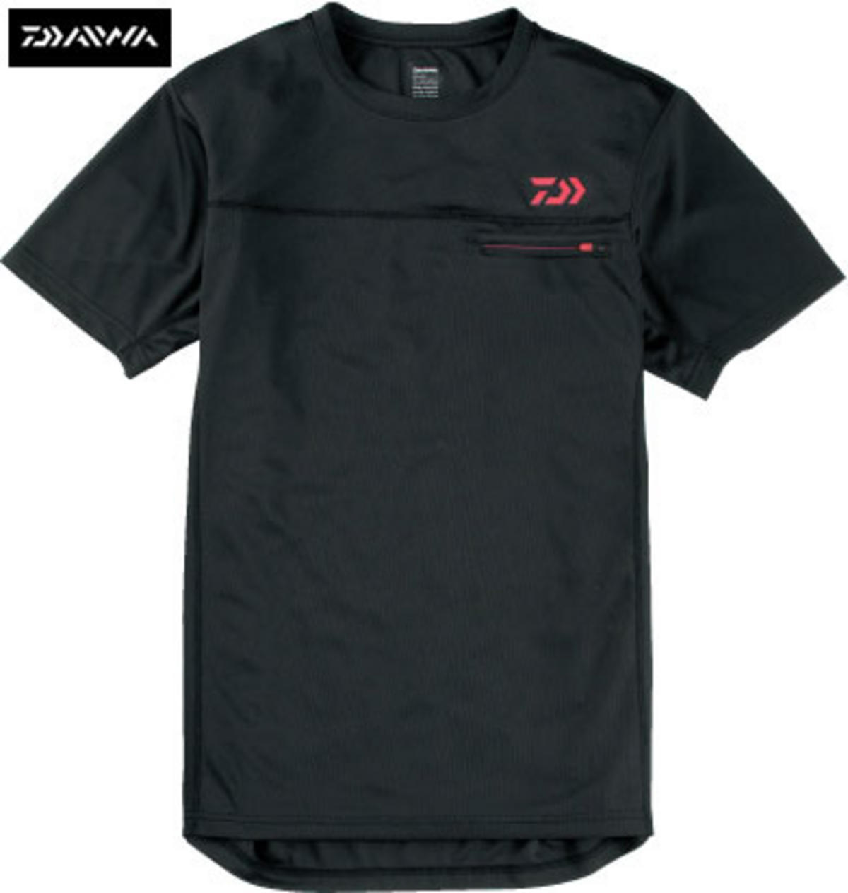 NEW DAIWA JAPAN SHORT SLEEVE BASE LAYER T-SHIRT BLACK SIZES MED - XXL
