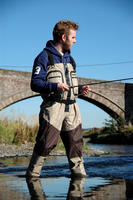 BISON BREATHABLE ZIP FRONT CHEST WADERS M,L XL,XXL