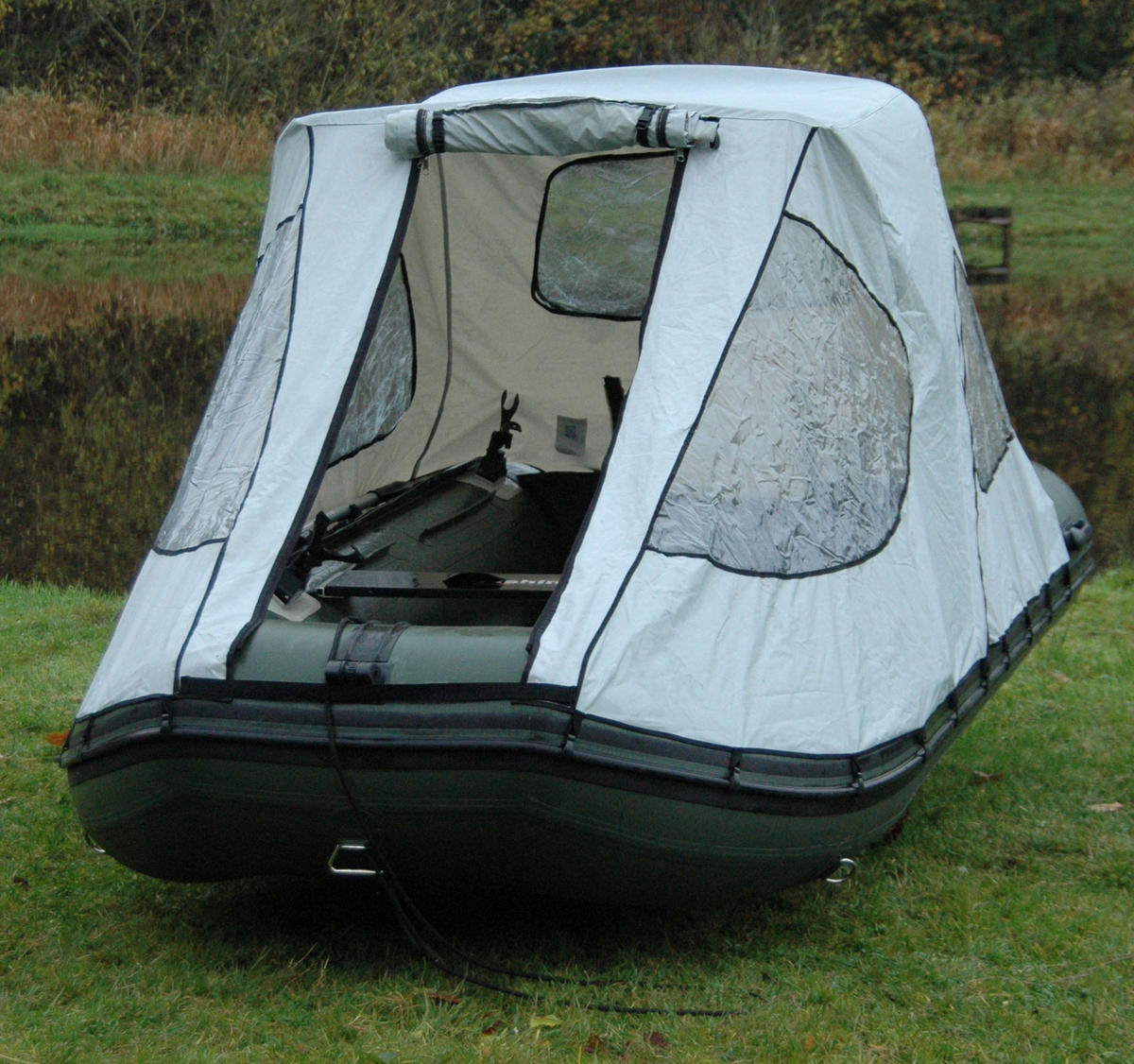 Thumbnail 3 & BISON MARINE BIMINI COCKPIT TENT CANOPY FOR INFLATABLE BOAT ...