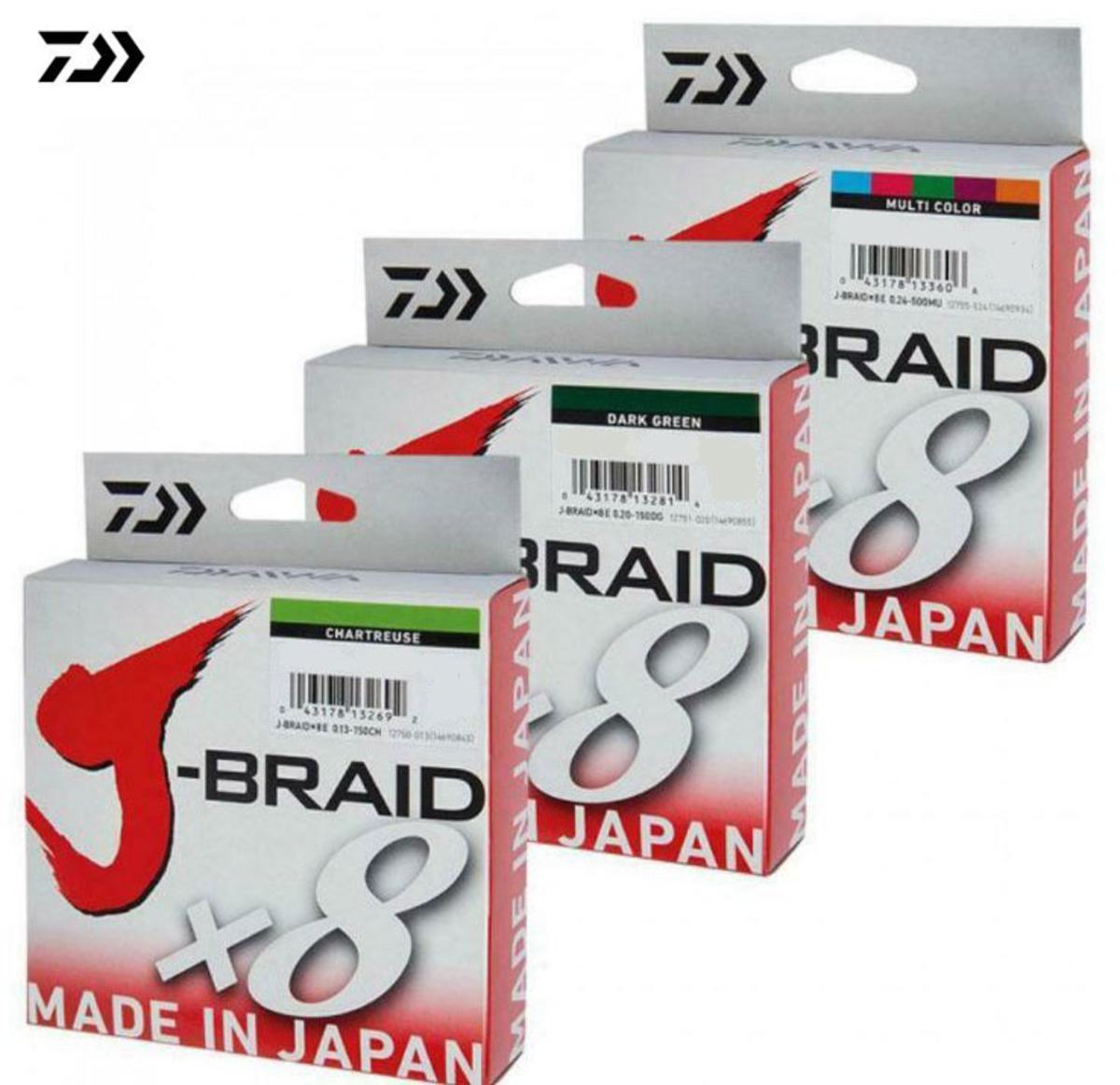 New Daiwa J-Braid X8 Fishing Line - 150m Spool - All Colours & Breaking Strains
