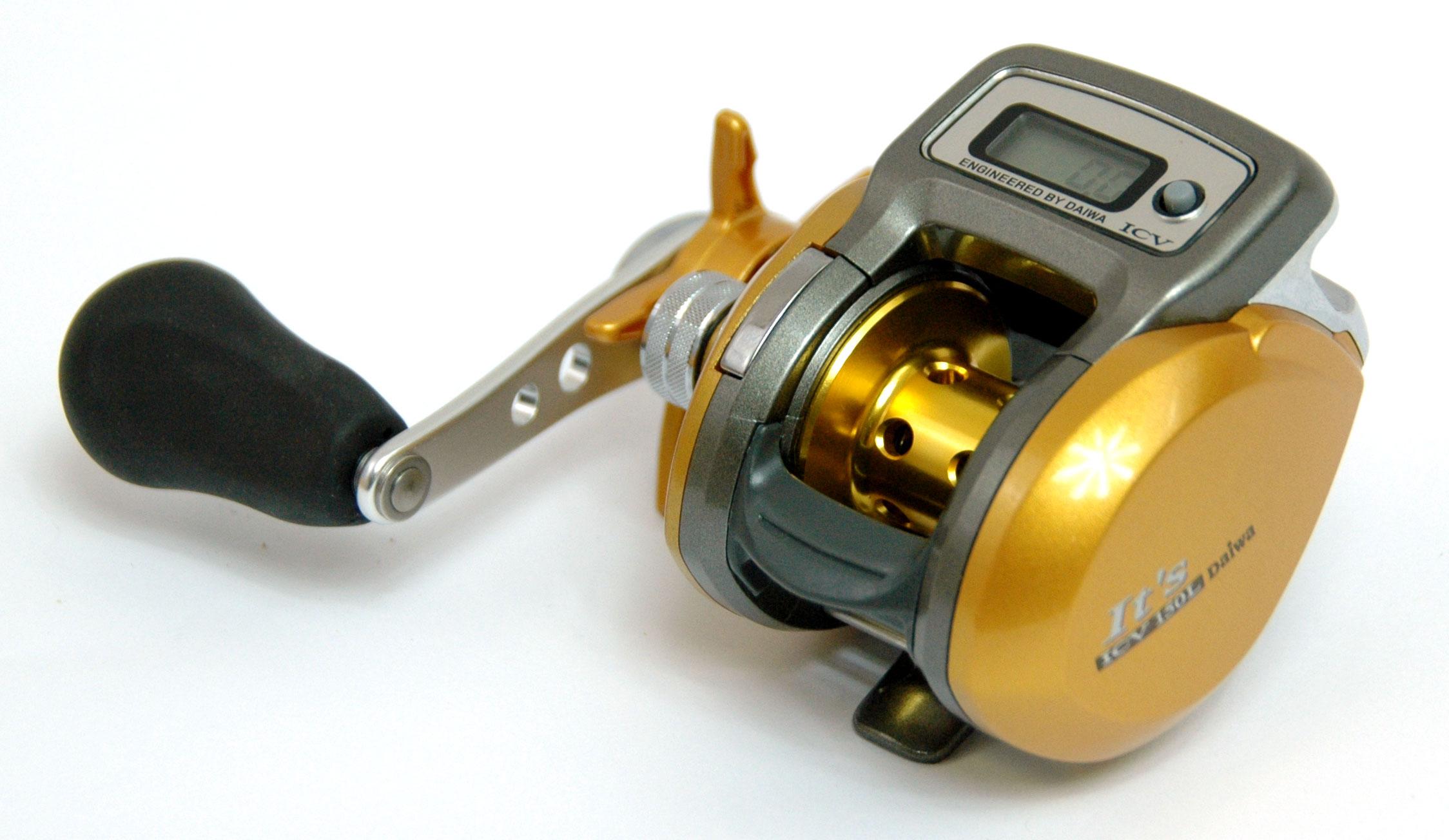 Clearance daiwa it 39 s icv 150l left hand wind multiplier for Digital fishing reel