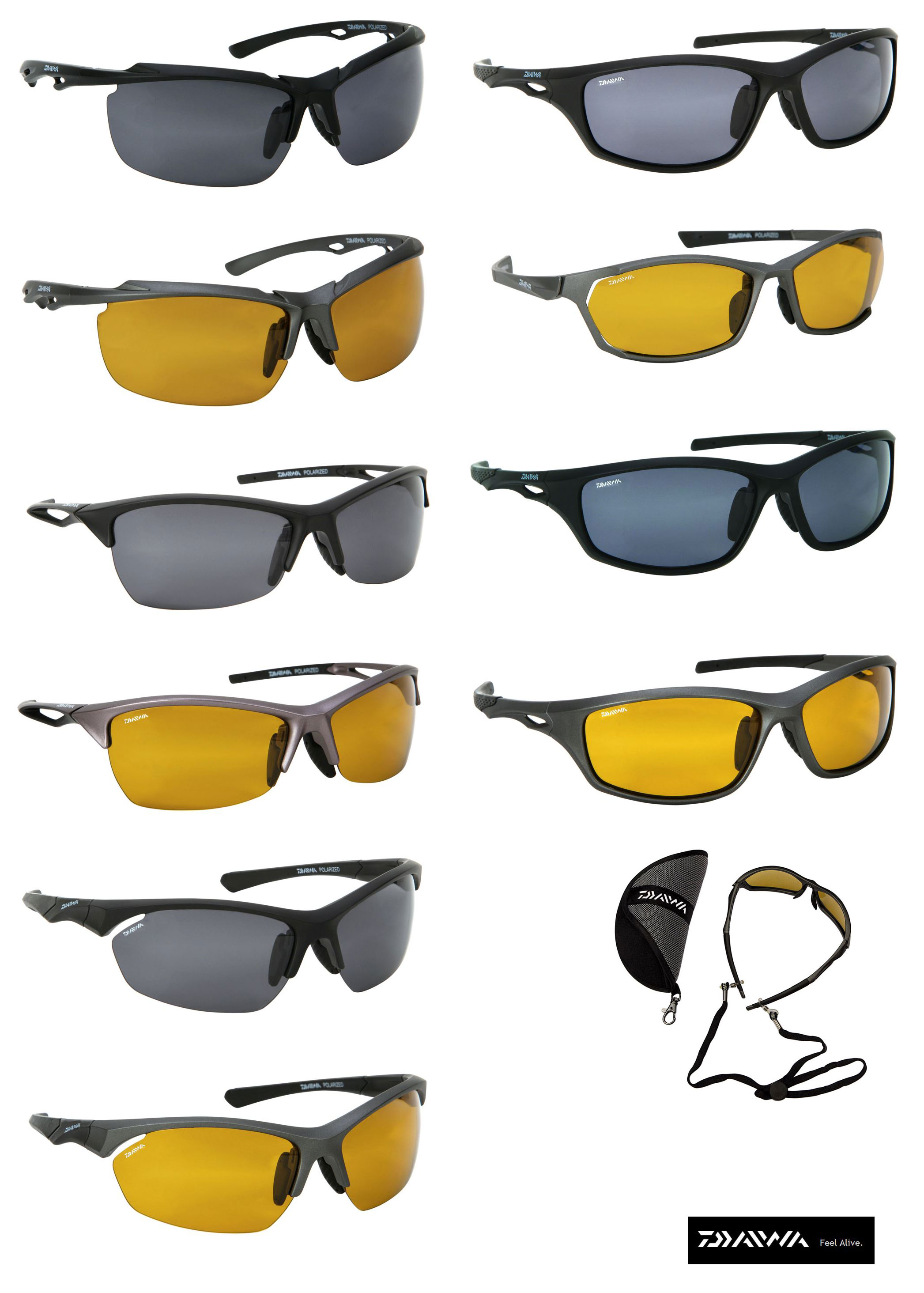 sunglasses polarised  NEW DAIWA PRO POLARISED SUNGLASSES CHOICE OF STYLES