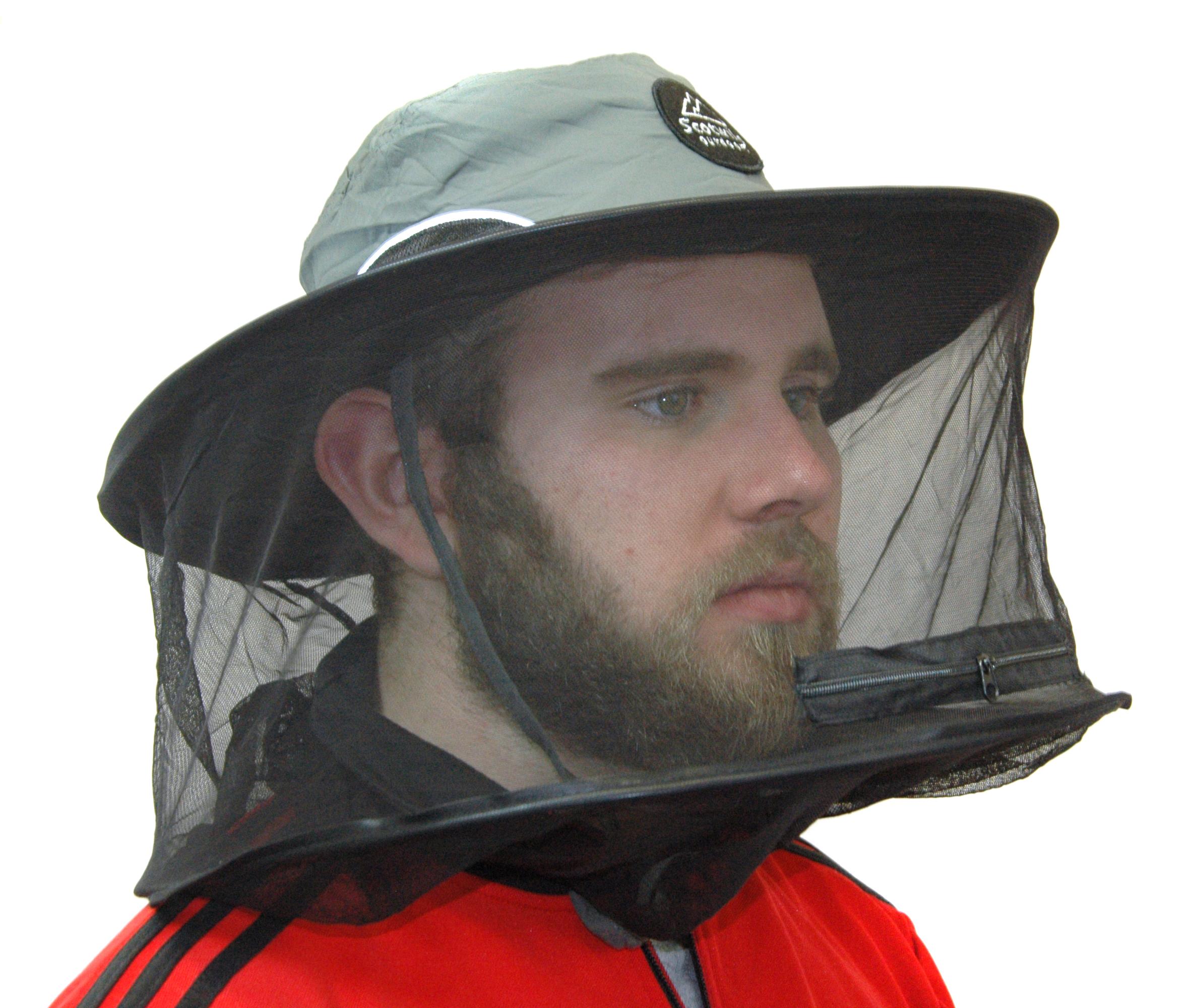 Scotwild pliant Moucheron Moustique Insecte Hat Head Net