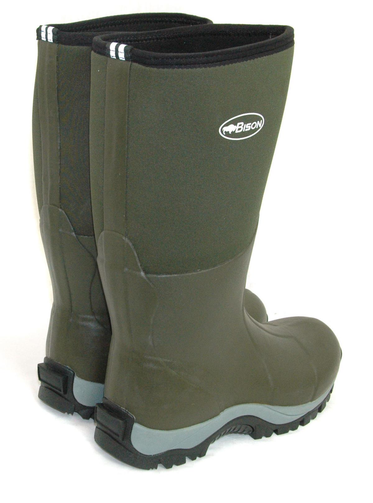 Bison 10mm Winter Neoprene Wellington Muck Boot Bison