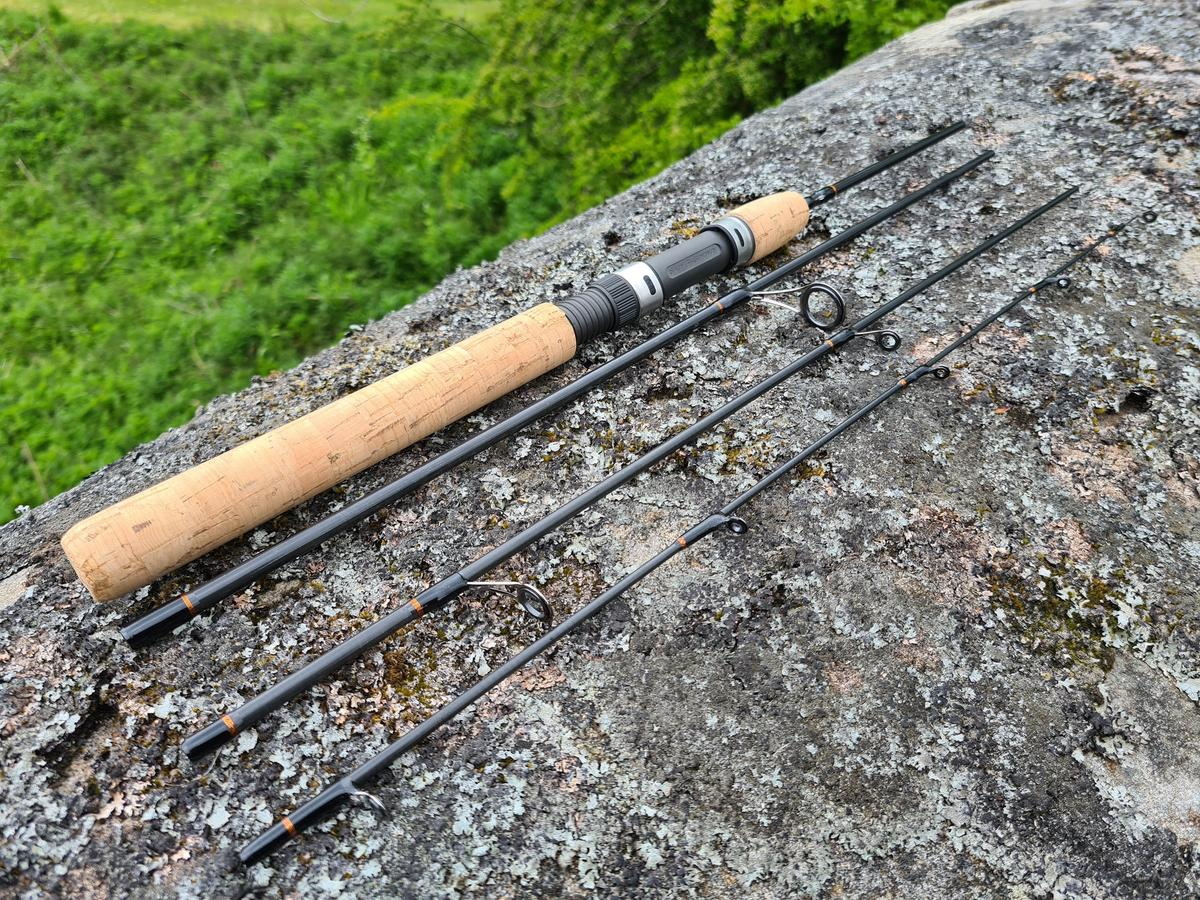 """BISON PAC LIGHT 5'6"""" 4pc TRAVEL BACKPACKING CAMPING SPINNING ROD PAC564ULFS"""