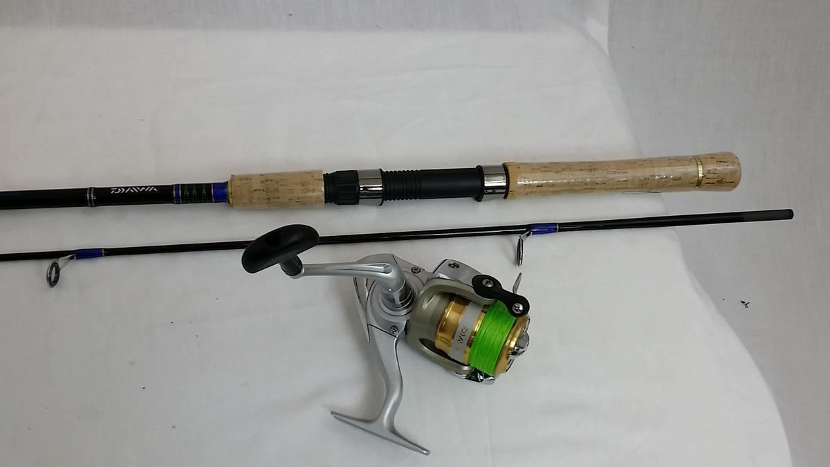 DAIWA SWEEPFIRE FISHING ROD & REEL J-BRAID COMBO