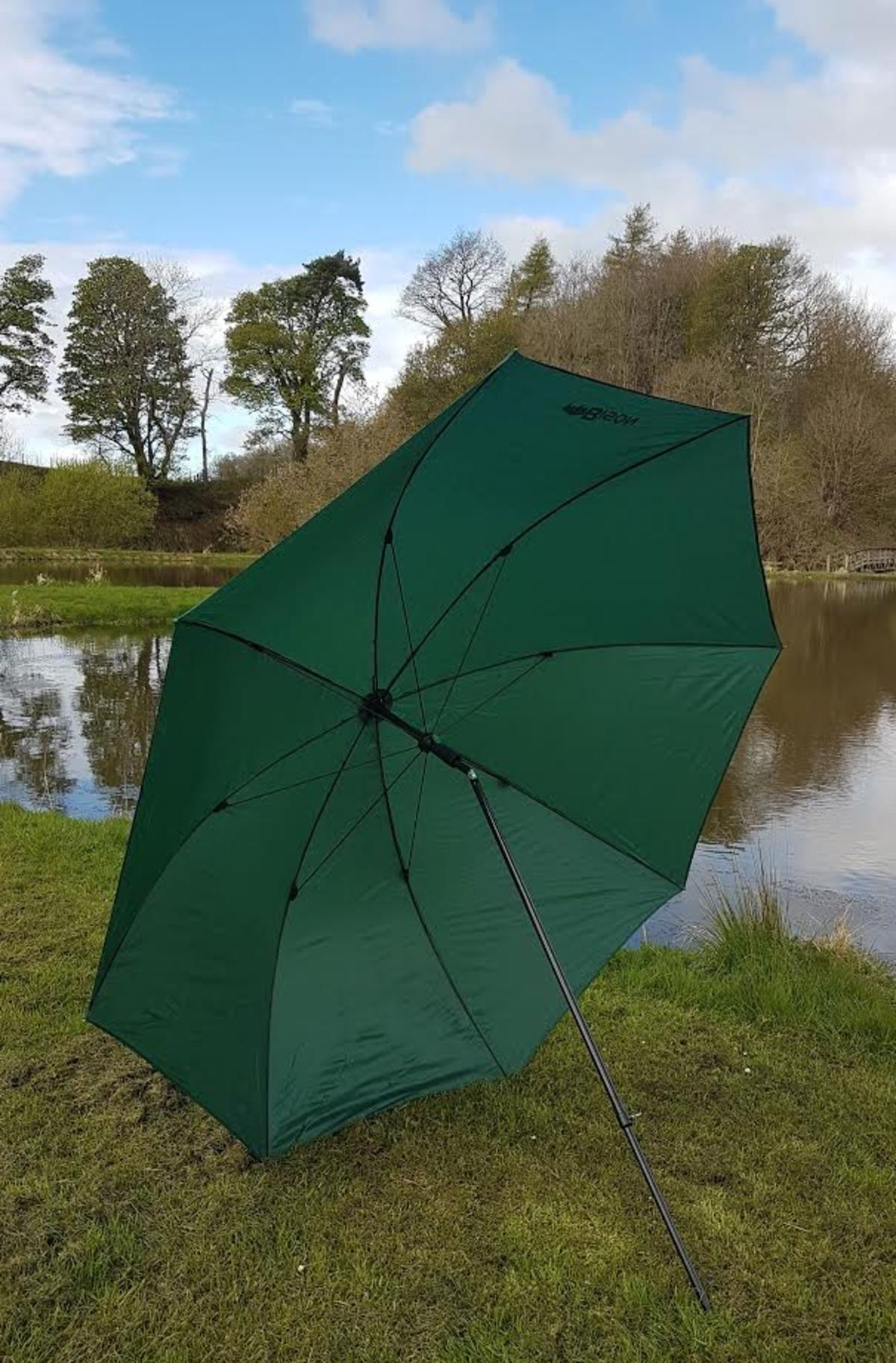 "88"" 2.2m  BISON TOP TILT FISHING UMBRELLA BROLLY STITCHED OR TAPED  SEEMS"