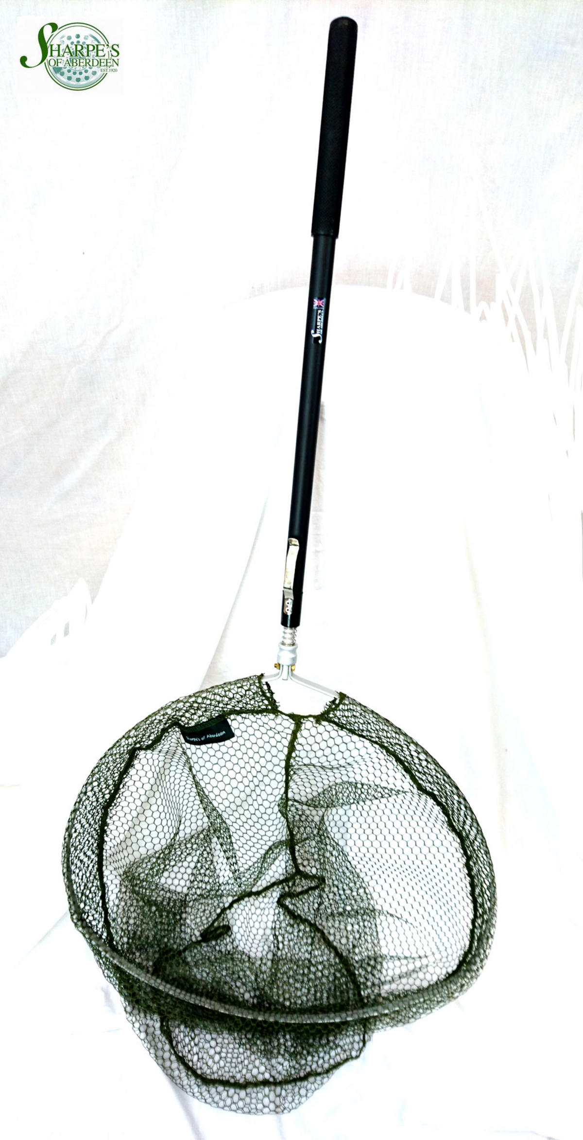 Sharpe's of Aberdeen Errol Sea Trout Telescopic Landing Net Lakeside Soft Mesh