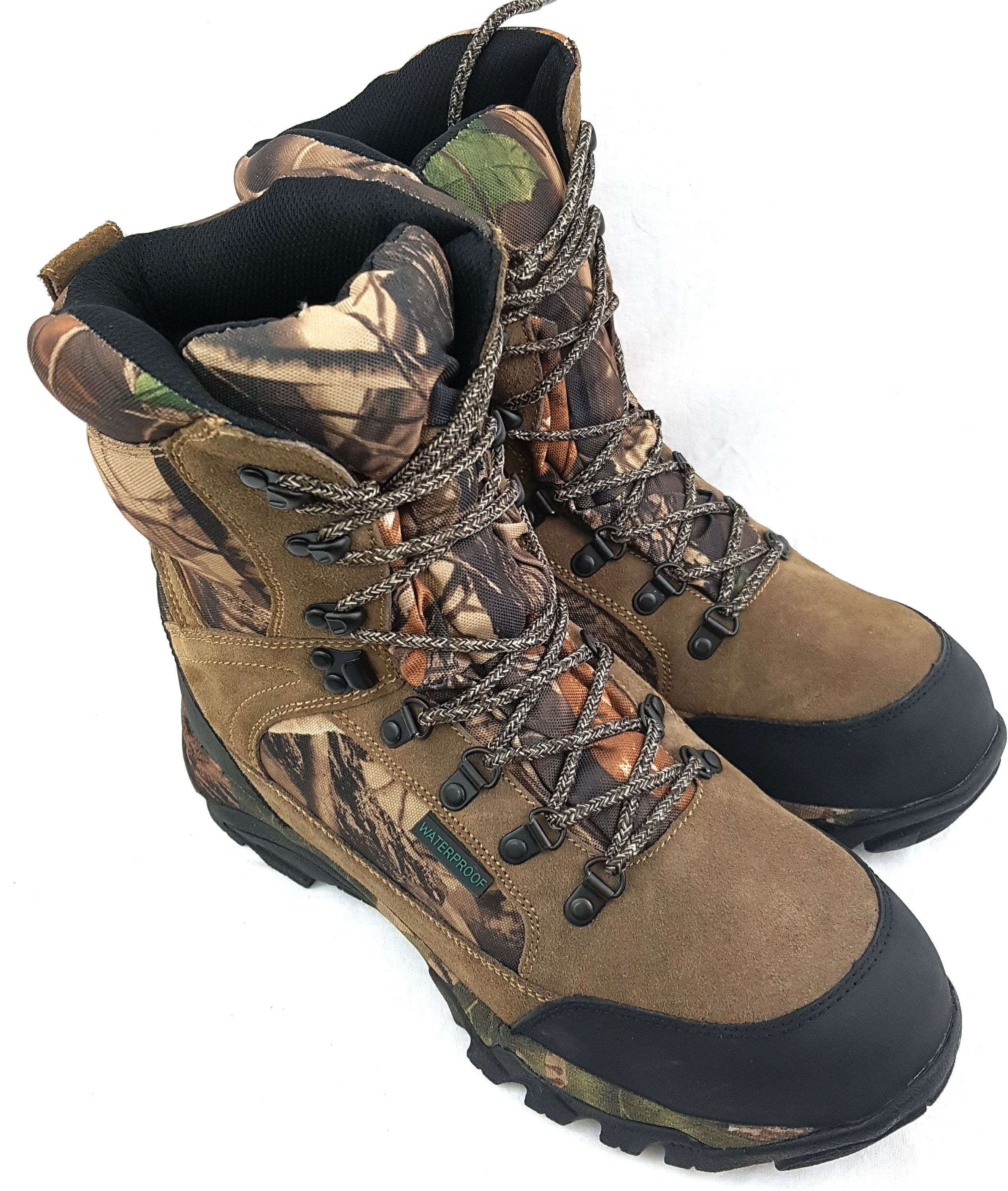 new product 8a161 5bae4 Details about BISON SUEDE LEATHER CAMO WATERPROOF BOOTS