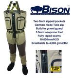 BISON ZIP FRONT BREATHABLE CHEST WADERS