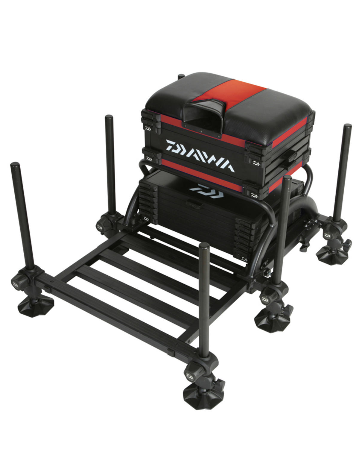 Daiwa Tournament 500 Seat Box Red/Black TN500SB