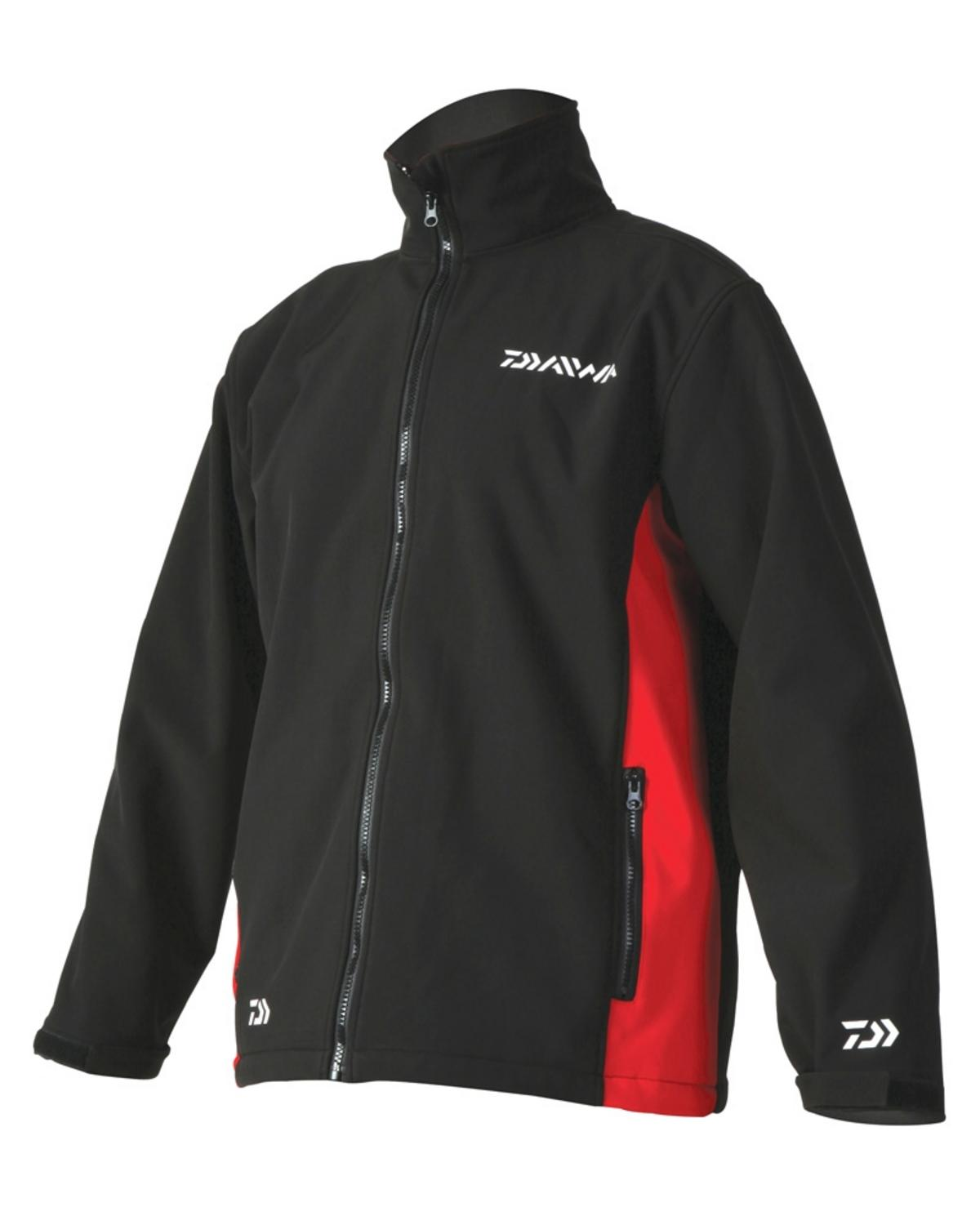 DAIWA SOFTSHELL JACKET RED or BLACK