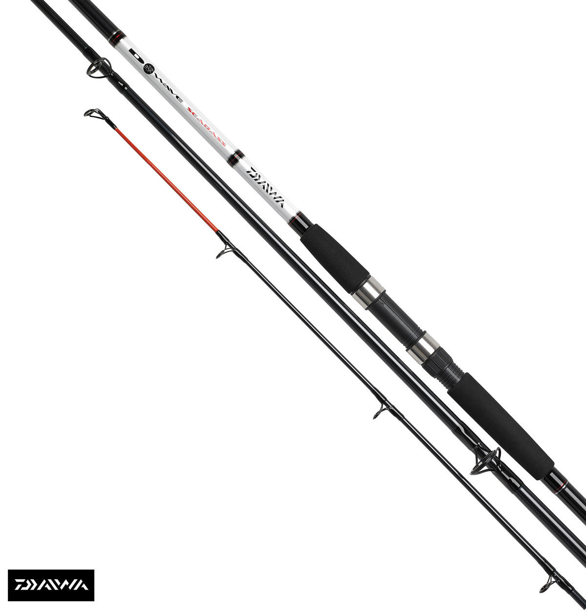 New Daiwa D Wave Seabass 11ft 3pc 2-4oz Fishing Rod Model No. DWSB1103