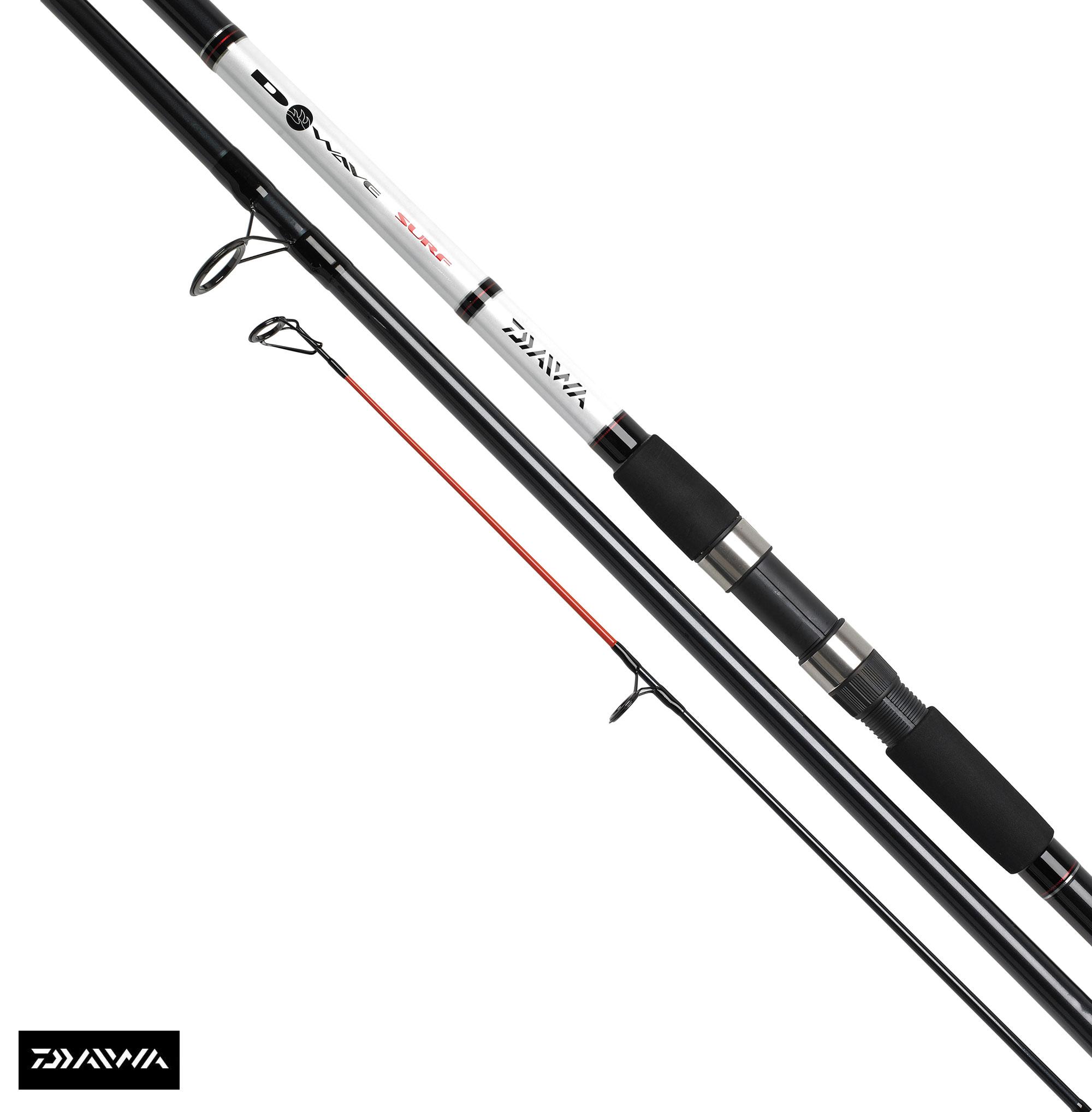 New daiwa d wave surf beach fishing rod 13 39 3pc 4 8oz for Daiwa fishing rods
