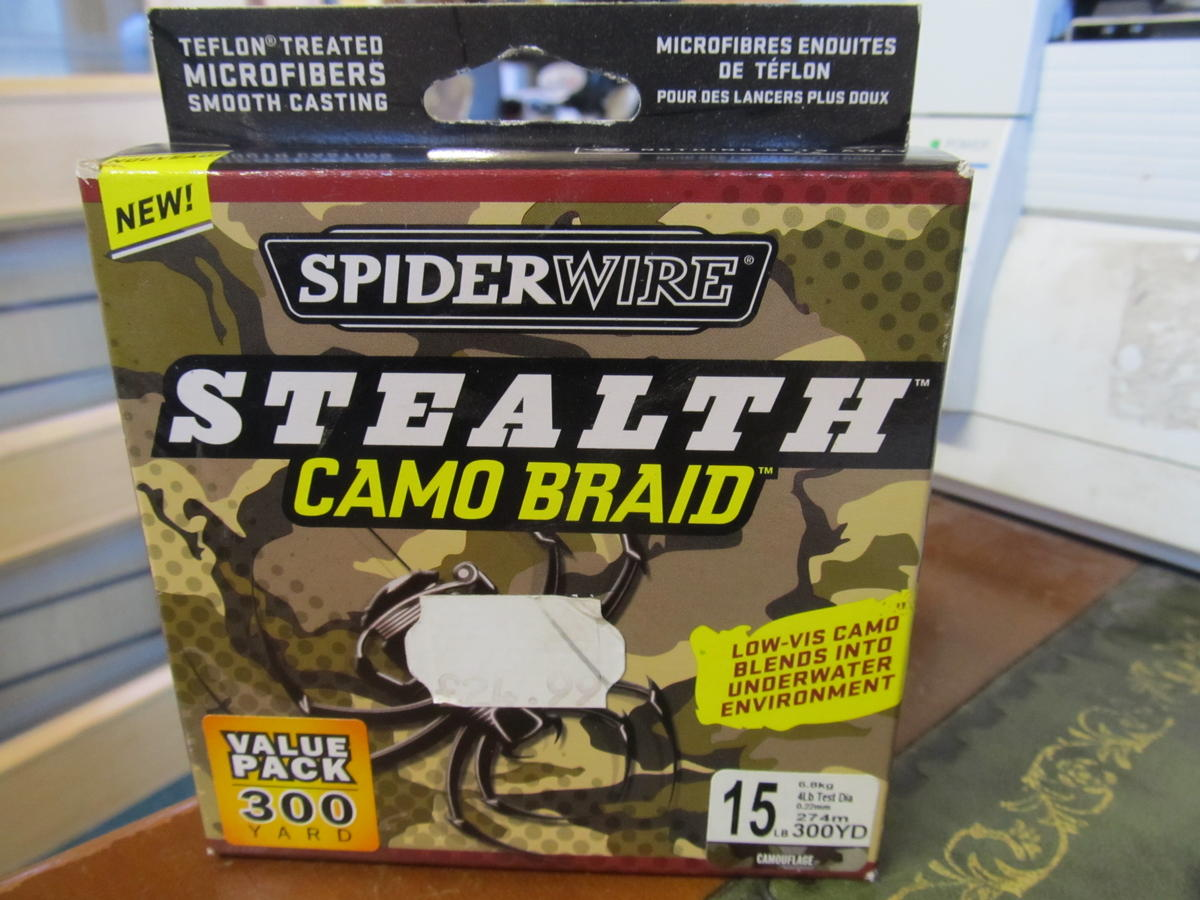 SPIDERWIRE STEALTH CAMO BRAID SS15C 300 YD 15LB CLEARANCE OFFER