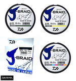 New Daiwa J-Braid X4 Fishing Line 135m Spool - All Colours & Breaking Strains