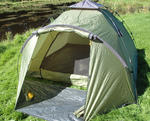 EASY UP BROLLY BIVVY + 2 CARP FISHING CHAIRS