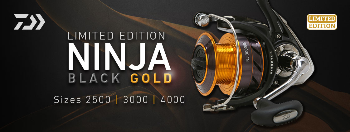 NEW-Daiwa-Ninja-Black-amp-Gold-Limited-Edition-Fishing-Reel-Tous-les-modeles