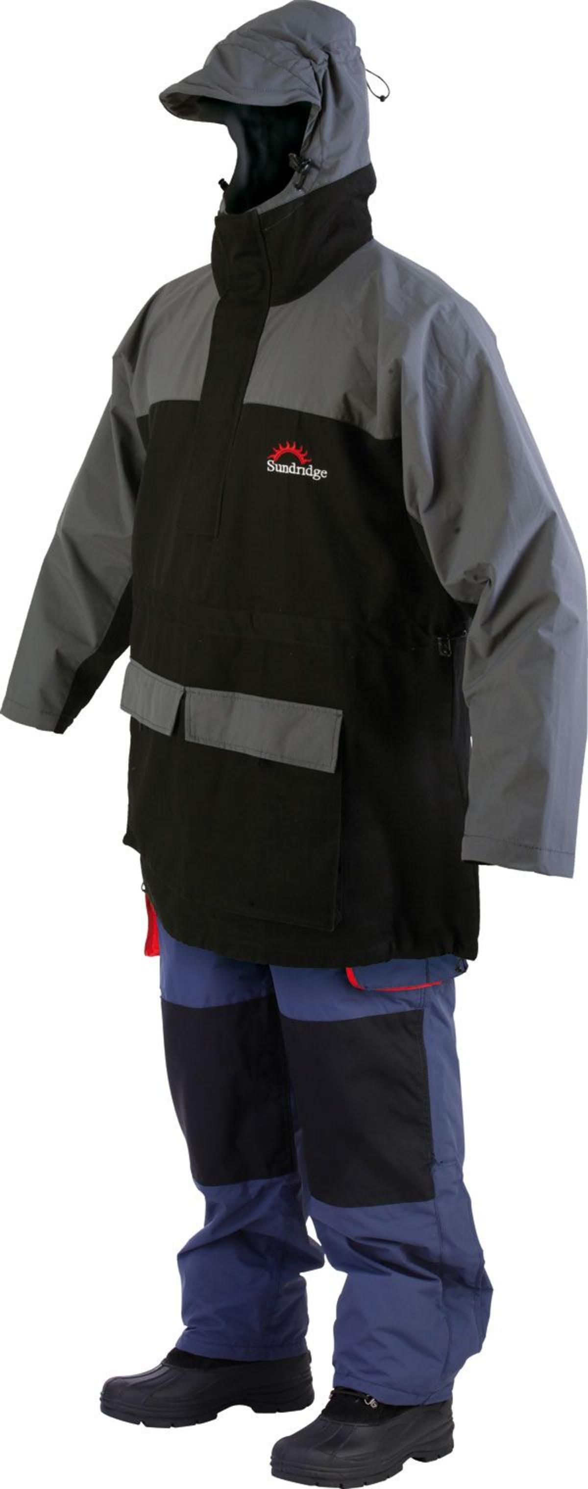 CLEARANCE SUNDRIDGE MARINE PRO SPORT COTTON SMOCK BLACK/GREY Model No MPCS