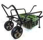 BISON HEAVY DUTY FISHING TWO WHEEL BARROW WITH BARROW BAG FISHING TROLLEY