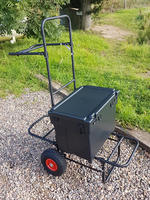 BISON  FISHING PULL TROLLEY COMPLETE WITH BISON TEAM SEATBOX
