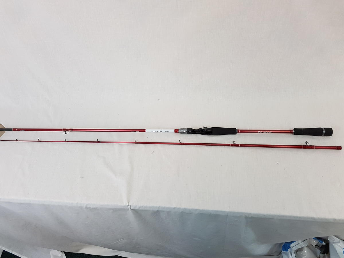 EX DISPLAY DAIWA TATULA 8' 100 GRAM SPINNING ROD tat802xhfb-rw