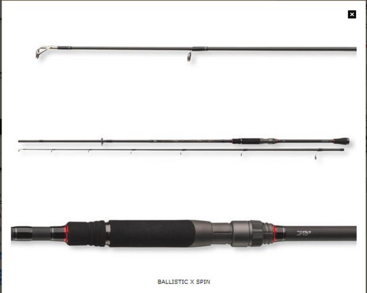 EX DISPLAY DAIWA BALLISTIC X 8' SPINNING ROD BLX802HFS-AX 14-42gr