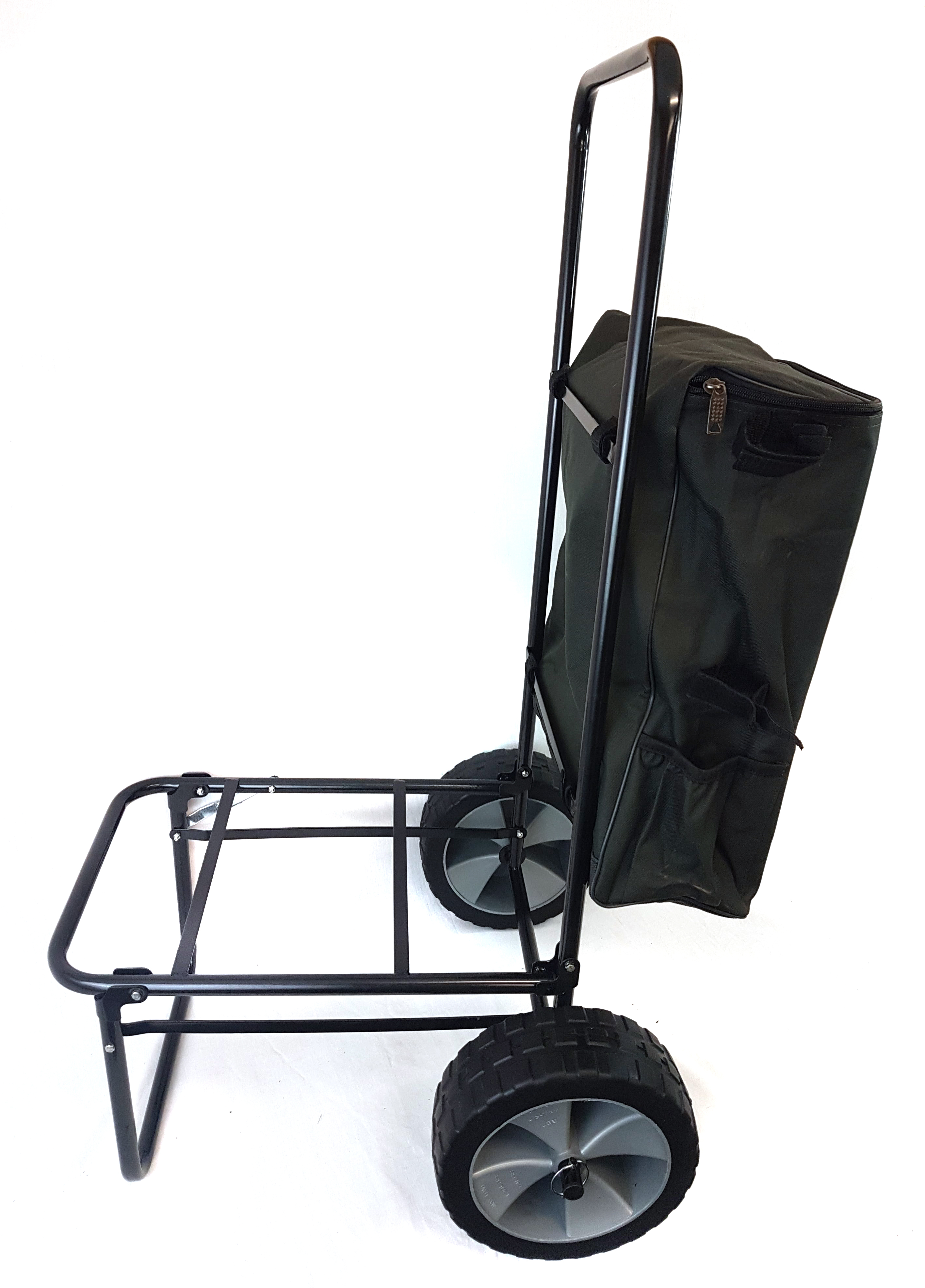 Details about FOLDING FISHING SEATBOX TROLLEY COMPLETE WITH TROLLEY BAG
