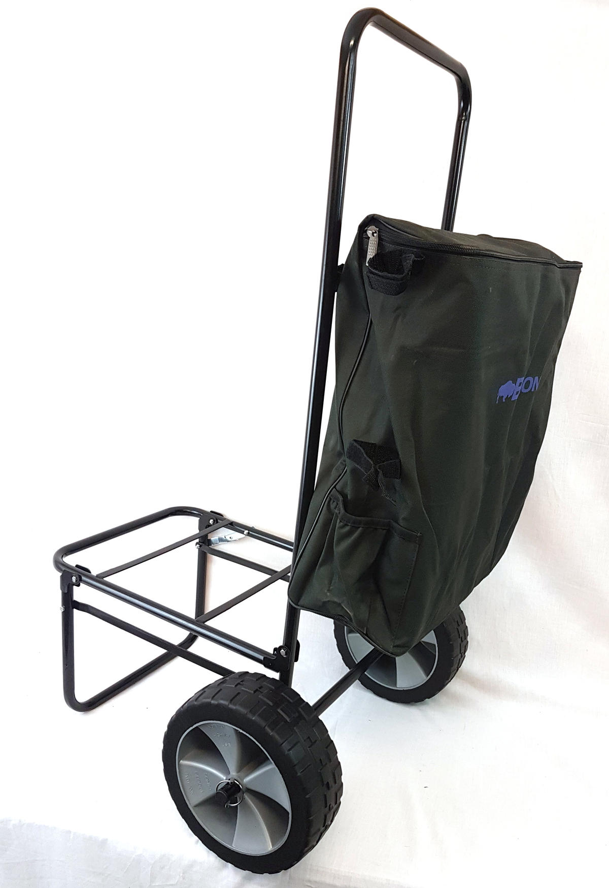 FOLDING FISHING SEATBOX TROLLEY COMPLETE WITH TROLLEY BAG