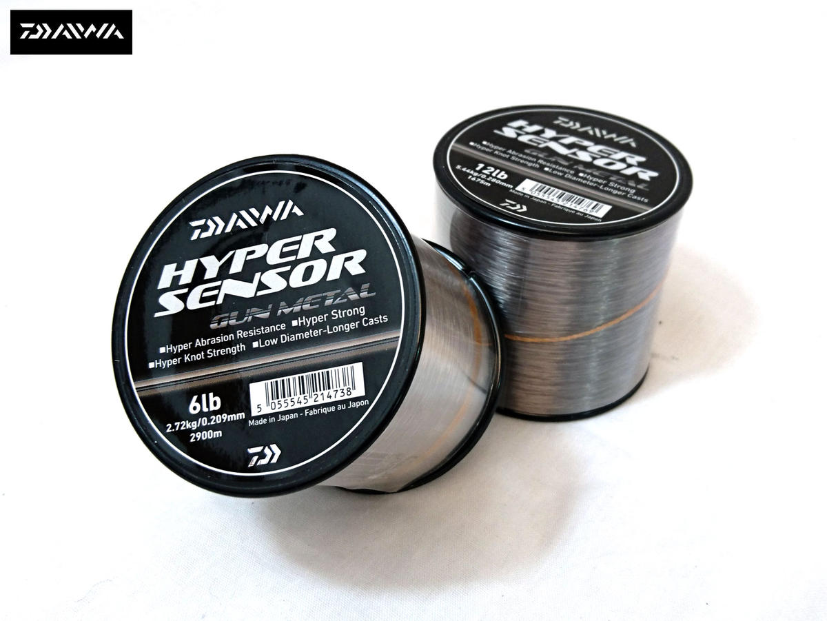 Daiwa Hyper Sensor Gun Metal Bulk Spool Monofil Fishing Line - All Sizes