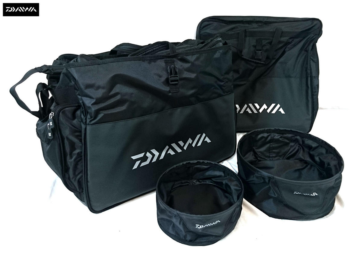 Daiwa Deluxe Complete Carryall with Groundbait Bowls and Net Bag