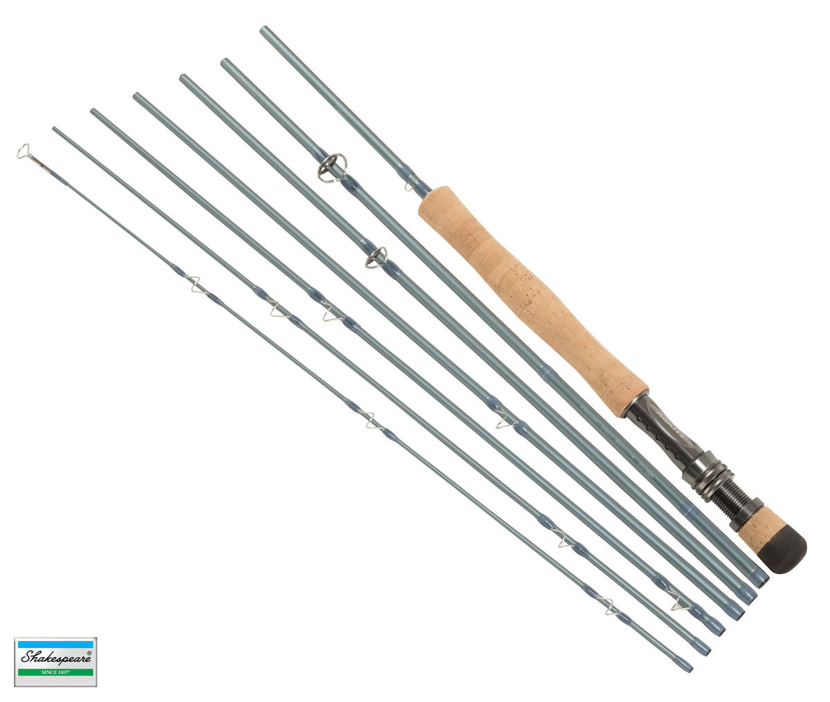 New Shakespeare Agility 2 EXP Travel Fly Fishing Rod 9'6' #7 7pc 1436386