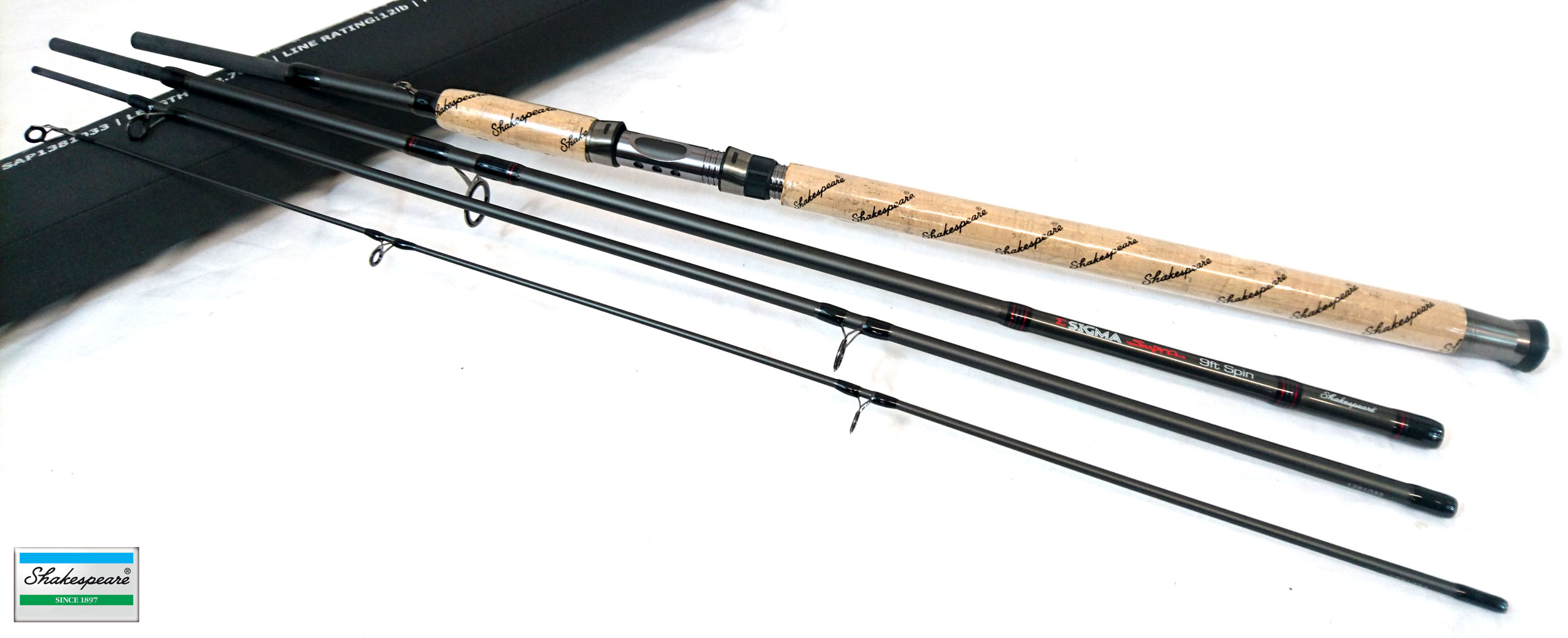 e930294dd900 Sentinel New Shakespeare Sigma Supra Travel Spinning Rod 7ft - 11ft with  Cordura Tube