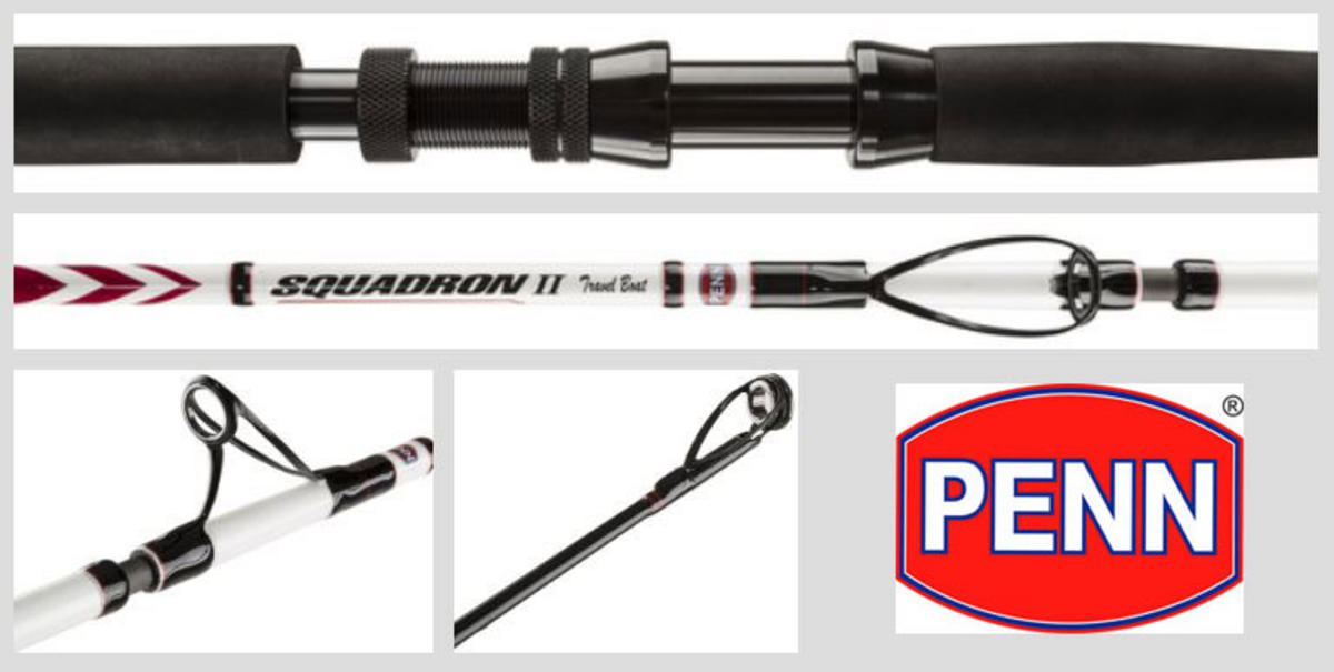 New Penn Squadron II / Mk2 Travel Boat Rod - 5pc - All Models
