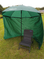 BISON 1.8m TOP TILT UMBRELLA BROLLY SHELTER WITH  SIDES & CARP CHAIR